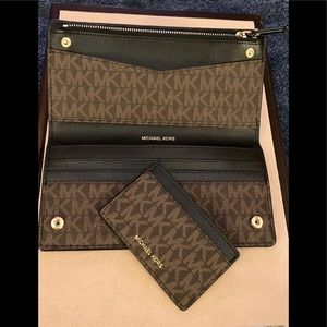 Michael Kors wallet & card holder; 2 piece set!